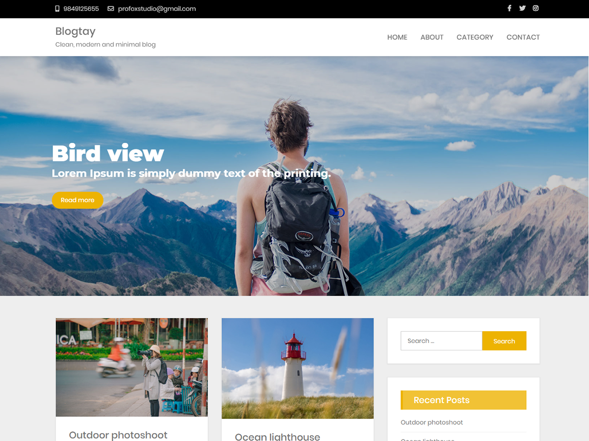 Blogtay – Free wordpess theme
