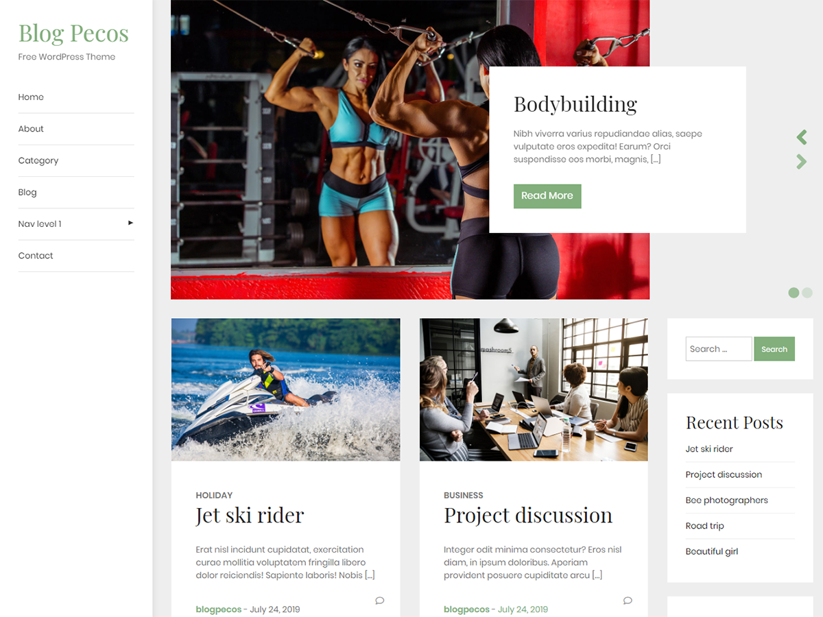 Blogpecos WordPress theme is live