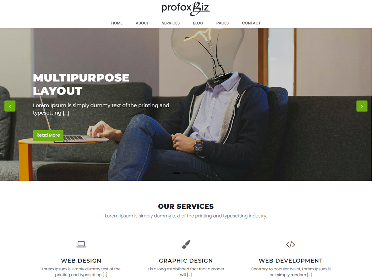 Profoxbiz theme is live
